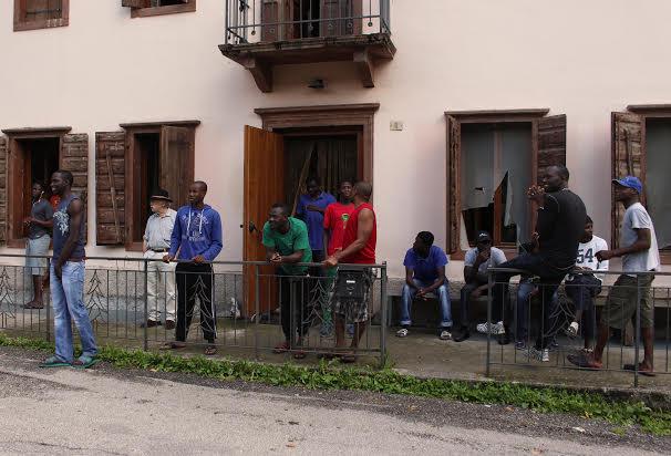 Migranti accolti a Belluno