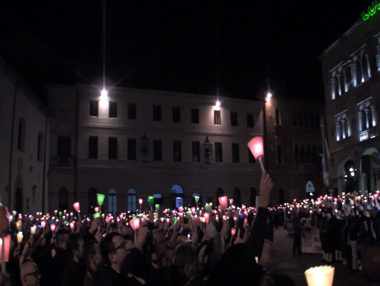 Belluno, manifestazione contro l'accorpamento della Provincia e per l'autonomia. 24 ottobre 2012.
